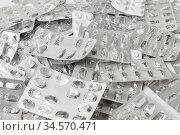 Leere Verpackung von Medikamenten als Müll Hintergrund Konzept. Стоковое фото, фотограф Zoonar.com/Robert Kneschke / age Fotostock / Фотобанк Лори