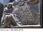 Tombstone of Eva Peron, the legendary 'Evita', the late wife of late... (2017 год). Редакционное фото, фотограф Julio Etchart / age Fotostock / Фотобанк Лори