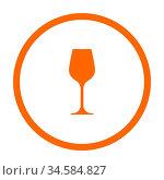 Weinglas und Kreis - Wine glass and circle. Стоковое фото, фотограф Zoonar.com/Robert Biedermann / easy Fotostock / Фотобанк Лори