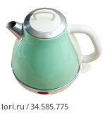 Modern electric kettle. Стоковое фото, фотограф Яков Филимонов / Фотобанк Лори