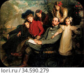 Blanche Jacques Emile - the Poet Francis Viele-Griffin and His Family... Стоковое фото, фотограф Artepics / age Fotostock / Фотобанк Лори