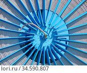 Technik, technisch, rad, rund, speiche, speichen, hafen. Стоковое фото, фотограф Zoonar.com/Volker Rauch / easy Fotostock / Фотобанк Лори