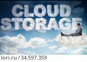 Cloud computing storage in IT concept. Стоковое фото, фотограф Elnur / Фотобанк Лори