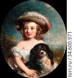 Baxter Charles - Love Me Love My Dog - British School - 19th Century. Стоковое фото, фотограф Artepics / age Fotostock / Фотобанк Лори