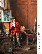 Bennett Frank Moss - the Masterpiece - British School - 19th Century. Стоковое фото, фотограф Artepics / age Fotostock / Фотобанк Лори