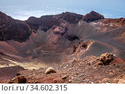 Pico do Fogo volcano crater in Cha das Caldeiras, Cape Verde, Africa. Стоковое фото, фотограф Zoonar.com/Laurent Davoust / age Fotostock / Фотобанк Лори
