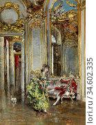 Boldini Giovanni - a Friend of the Marquis - British School - 19th... Стоковое фото, фотограф Artepics / age Fotostock / Фотобанк Лори