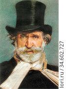 Boldini Giovanni - Giuseppe Verdi 1 - British School - 19th Century. Стоковое фото, фотограф Artepics / age Fotostock / Фотобанк Лори
