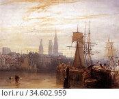 Bonington Richard Parkes - Rouen 1 - British School - 19th Century. Стоковое фото, фотограф Artepics / age Fotostock / Фотобанк Лори