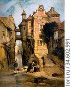 Bonington Richard Parkes - Rouen 2 - British School - 19th Century. Стоковое фото, фотограф Artepics / age Fotostock / Фотобанк Лори