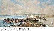 Bough Samuel - a Prospect of Ardrossan Harbour Ayrshire - British... Стоковое фото, фотограф Artepics / age Fotostock / Фотобанк Лори