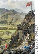 Bramley Frank - Grasmere Fell Races - British School - 19th Century. Стоковое фото, фотограф Artepics / age Fotostock / Фотобанк Лори