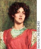 Breakspeare William Arthur - a Dark Beauty - British School - 19th... Стоковое фото, фотограф Artepics / age Fotostock / Фотобанк Лори
