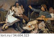 Bramley Frank - Every One His Own Tale - British School - 19th Century... Стоковое фото, фотограф Artepics / age Fotostock / Фотобанк Лори
