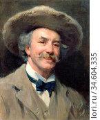 Bramley Frank - Self Portrait (the Beaver Hat) - British School - ... Стоковое фото, фотограф Artepics / age Fotostock / Фотобанк Лори