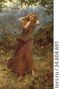 Breakspeare William Arthur - the Windswept Maiden - British School... Стоковое фото, фотограф Artepics / age Fotostock / Фотобанк Лори
