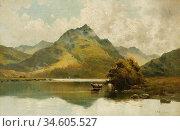 Breanski II Alfred De - Loch Fad - British School - 19th Century. Стоковое фото, фотограф Artepics / age Fotostock / Фотобанк Лори