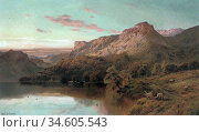 Breanski II Alfred De - Autumn in the Highlands - British School - ... Стоковое фото, фотограф Artepics / age Fotostock / Фотобанк Лори