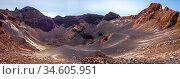 Pico do Fogo crater panoramic view, Cha das Caldeiras, Cape Verde. Стоковое фото, фотограф Zoonar.com/Laurent Davoust / age Fotostock / Фотобанк Лори