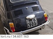 Old Fiat car in Rome, Italy. Стоковое фото, фотограф Andre Maslennikov / age Fotostock / Фотобанк Лори