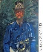 Trubner Wilhelm - Bayerischer Postillion 1 - German School - 19th... Редакционное фото, фотограф Artepics / age Fotostock / Фотобанк Лори