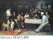 Uhde Fritz Von - the Performing Dogs - German School - 19th and Early... Редакционное фото, фотограф Artepics / age Fotostock / Фотобанк Лори