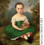 Vogel Von Vogelstein Carl Christian - Portrait of a Girl - German... Редакционное фото, фотограф Artepics / age Fotostock / Фотобанк Лори