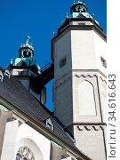 Kirchtürme in Halle an der Saale. Стоковое фото, фотограф Zoonar.com/Gabriele Sitnik-Schmach / easy Fotostock / Фотобанк Лори