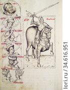 Rodrigo Diaz de Vivar, El Cid at Genealogy of the Kings of Spain ... Стоковое фото, фотограф Juan García Aunión / age Fotostock / Фотобанк Лори