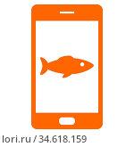 Fisch und Smartphone - Fish and smartphone. Стоковое фото, фотограф Zoonar.com/Robert Biedermann / easy Fotostock / Фотобанк Лори