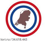 Landkarte der Niederlande auf Hintergrund mit Fahne - Map of the Netherlands... Стоковое фото, фотограф Zoonar.com/lantapix / easy Fotostock / Фотобанк Лори