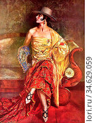 Apperley George Owen Wynne - Flamenco Dancer - British School - 19th... Стоковое фото, фотограф Artepics / age Fotostock / Фотобанк Лори