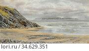 Brett John - Caldy Island - British School - 19th Century. Стоковое фото, фотограф Artepics / age Fotostock / Фотобанк Лори