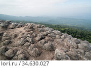 The Landscape with Forest and Rock formations at the Phu Hin Rong... Стоковое фото, фотограф Zoonar.com/URS FLUEELER / age Fotostock / Фотобанк Лори