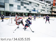 MELBOURNE, AUSTRALIA - JUNE 21: Canada Vs USA in the 2019 Ice Hockey... Стоковое фото, фотограф Zoonar.com/Chris Putnam / age Fotostock / Фотобанк Лори