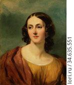 Carpenter Margaret Sarah - Portrait of Lady Harriet Hamilton - British... Стоковое фото, фотограф Artepics / age Fotostock / Фотобанк Лори