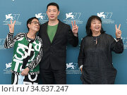 The director Ann Hui, Mary Stephen ( film editing) Danny Liu ( producer... Редакционное фото, фотограф Maria Laura Antonelli / AGF/Maria Laura Antonelli / age Fotostock / Фотобанк Лори