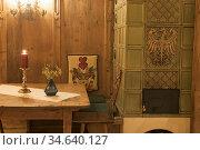 Restaurant, Val Pusteria, Region du Trentin-Haut-Adige, Tyrol du ... Стоковое фото, фотограф Christian Goupi / age Fotostock / Фотобанк Лори