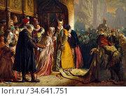 Drummond James - the Return of Mary Queen of Scots to Edinburgh - ... Стоковое фото, фотограф Artepics / age Fotostock / Фотобанк Лори