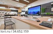 Interior of premium domestic appliance store. Редакционное видео, видеограф Сергей Старуш / Фотобанк Лори
