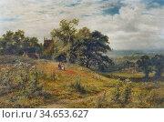 Gallon Robert - Figures in an Expansive Summer Landscape - British... Стоковое фото, фотограф Artepics / age Fotostock / Фотобанк Лори