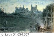 Goodwin Albert - Exeter - British School - 19th Century. Стоковое фото, фотограф Artepics / age Fotostock / Фотобанк Лори