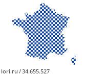 Karte von Frankreich in Schachbrettmuster - Map of France in checkerboard... Стоковое фото, фотограф Zoonar.com/lantapix / easy Fotostock / Фотобанк Лори