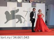 Diego Boneta and Naian Gonzalez Norvind during the Nuevo Orden (New... Редакционное фото, фотограф Antonelli / AGF/Maria Laura Antonelli / age Fotostock / Фотобанк Лори