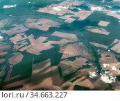 Aerial landscape showing rainforest destruction /deforestation, Amazon basin, Brazil. Стоковое фото, фотограф Konrad Wothe / Nature Picture Library / Фотобанк Лори