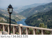 The landscape with the Douro river at the town of Alpendurada, east... Стоковое фото, фотограф Zoonar.com/URS FLUEELER / age Fotostock / Фотобанк Лори