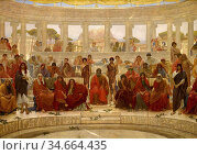 Richmond, william blake - An Audience in Athens during the Representation... Редакционное фото, фотограф Artepics / age Fotostock / Фотобанк Лори