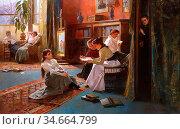 Rossi Alexander Mark - Forbidden Books - British School - 19th Century... Редакционное фото, фотограф Artepics / age Fotostock / Фотобанк Лори