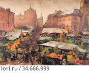 Sloane Mary Annie - Leicester Market - British School - 19th Century. Редакционное фото, фотограф Artepics / age Fotostock / Фотобанк Лори