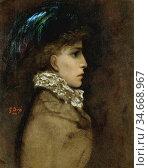 Doré Gustave - Sarah Bernhardt - French School - 19th Century. Редакционное фото, фотограф Artepics / age Fotostock / Фотобанк Лори